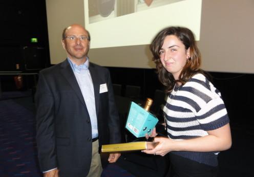 Professor Paul Campagnola (University of Wisconsin,USA) and feedback prize winner, Ms Marianne Henry, Brunel University UK