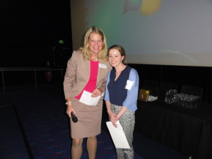 Poster winner Ms Sophie Bond and Professor Susanne Georgsson Ohman