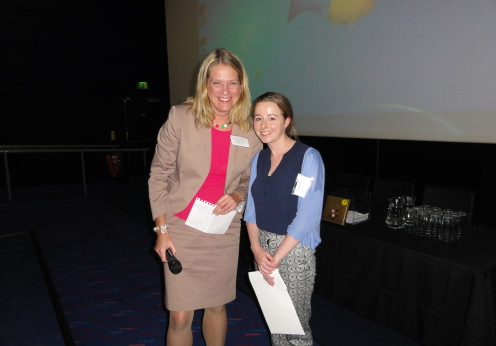 Poster winner Ms Sophie Bond and Professor Susanne Georgsson Ohman