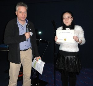 Dr Michiel Harmsen (Central Veterinary Institute, The Netherlands) and poster prize winner Ms Yingying Xu (The University of Hong Kong)
