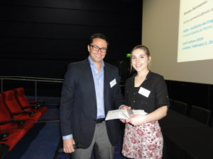 Dr Alvaro Mata (Queen Mary University of London, UK) with poster prize winner Ms Olivia Gillham (UCL Institute of Child Health,London, UK)