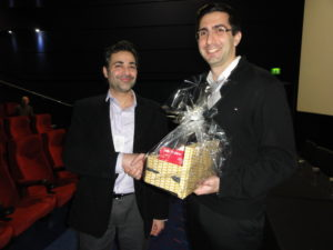 Feedback prize winner Dr Afshin Raouf (University of Manitoba, Canada) with Dr Alexandros Kiparissides (University College London, UK)
