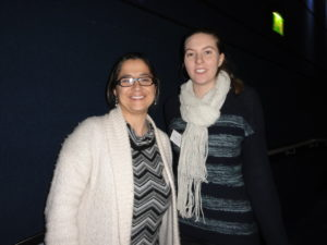 Dr Alessandra Sacco (Sanford-Burnham Prebys Medical Discovery Institute, La Jolla, USA) with poster prize winner Miss Michaela Johnson (University of South Australia)