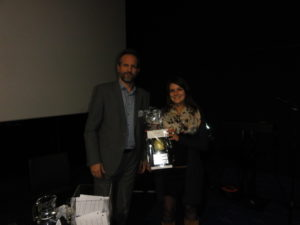 Dr Labros Sidossis with Feedback prize winner Ms Charlotte Baudry