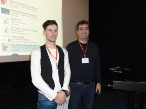 Mr Adam Olichwier (Nencki Institute of Experimental Biology, PAS, Poland) with Dr Manlio Vinciguerra (University College London, UK)