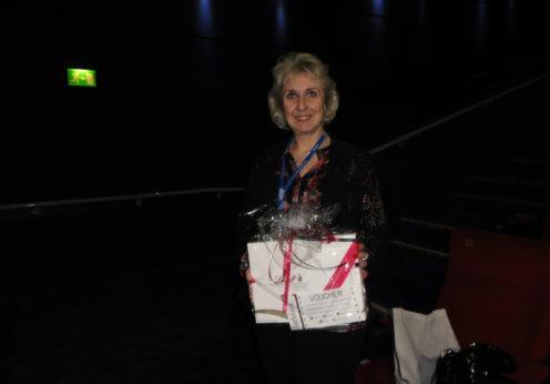 Feedback prize winner Dr. Ewa Kratz (Wrocław Medical University, Poland)