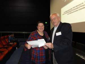 Poster prize winner Dr Vicky Jones (University of Central Lancashire, UK) and Professor Christopher Whiteley (National Taiwan University of Science and Technology, Taiwan)