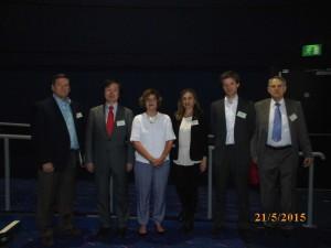Speakers from Day 3 – (From L-R) - Doug Brothwell, Takashi Hanioka, Lisa Fuchs (Chair), Giovanna Tranfo, Matthijs Blankers and John Nichols