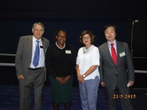 Speakers from Day 3 – (From L-R) – John Nichols, Tilean Clarke, Lisa Fuchs (Chair) and Takashi Hanioka