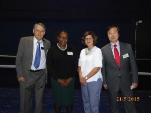 Speakers from Day 3 – (From L-R) – John Nichols, Tilean Clarke, Lisa Fuchs (Chair) and Takashi Hanioka