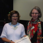Assistant Professor Lisa Fuchs and poster prize winner Dr Kirsten Doherty