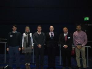 Speakers Day 3 (From L-R) Xavier Gasparutto, Nikolina Lesic, Julian Baker, Greg Robertson (Chair), Blaine Hoshizaki, Amit Chawla