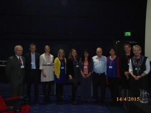 Speakers – Day 1 (From L-R): Waldemar Wysokinski, Herman Van Wietmarschen, Mathilde Svendstrup, Maria Bryant, Margarita Rivera, Maryam Yepes, Daniel Stein (co-Chair), Yael Latzer (co-Chair), Sara Kirk and Sian Robinson